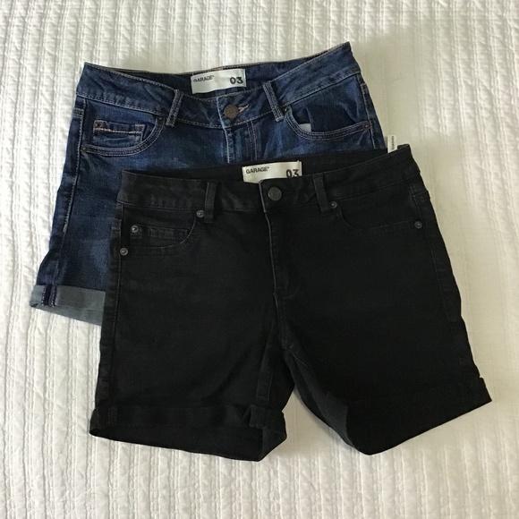 ⭐️2/$30⭐️Set of2 Garage Jean Shorts Blue & Black